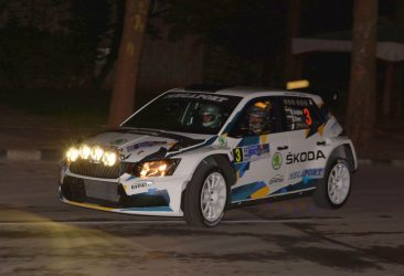Miroslav Angelov leads after the first special stage of Rally Bulgaria 2018